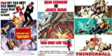 James Bond 3 Film Collection 4/5/6 Thunderball - You Only Live Twice & On her Majesties Secret Service 007 Blu Ray three films Action Movie Set