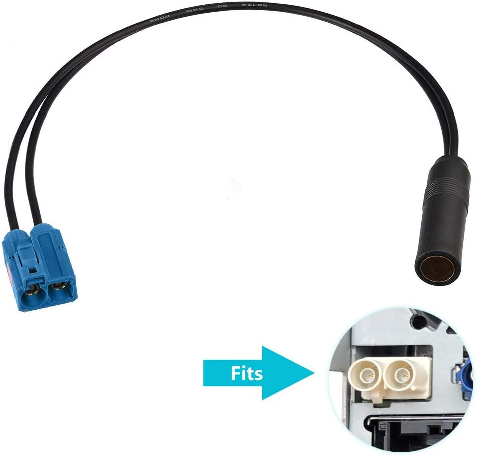Bingfu Universal KFZ Auto Stereo FM AM Radio Antenne Adapterkabel Fakra Z Buchse auf Motorola DIN Buchse Anschlusskabel 30cm f/ür Auto Stereo Audio HD Radio Head Unit CD Media Player Receiver