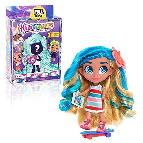 Toy Indoor Kids Girls Hairdorables Dolls Hairdorables - Collectible Surprise Dolls and Accessories: Series 1 (Styles May Vary) 1, Multicolor Bonus (1) Sprinkle Donut Lipgloss & (1) Fashion Doll