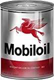 """Mobil oil Motor Oil Can Steel Cutout Sign. 7 1/4""""x10 1/2"""" 18 Gauge Steel. This Sign Has Eyelets. Made In The USA."""