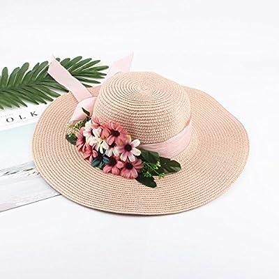 Xing Han Chapeau De Plage Nouveau Chapeau De Paille Chapeau Été Soleil Viseur Plage Vacances Chapeau De Plage Rose