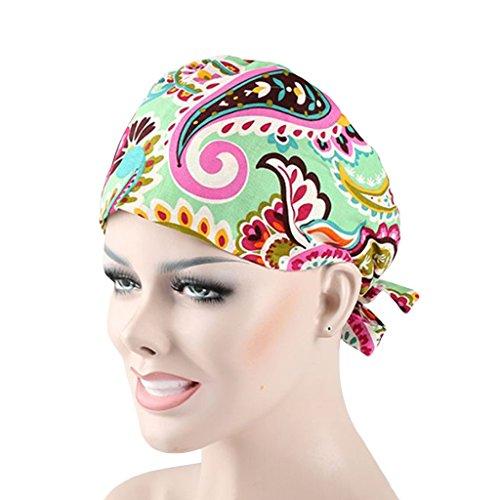 CSM Women's Bouffant Scrub Hat Cap Many Pattern Choices