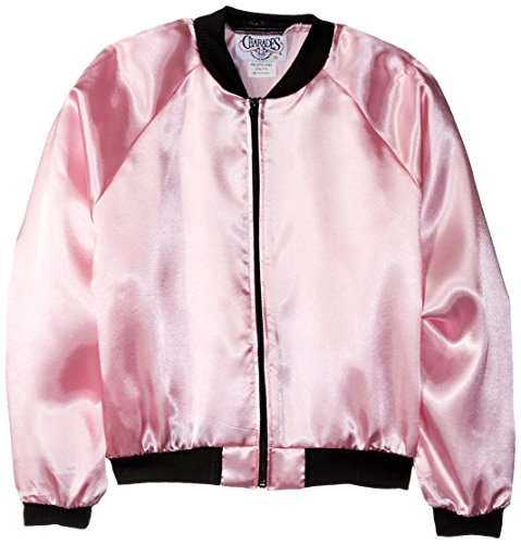 Charades Child's Pink Satin Ladies 50's Costume Jacket Costume Jacket, Pink