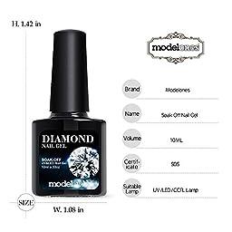 Modelones Soak Off Gel Nail Polish Glitter,5 Colors