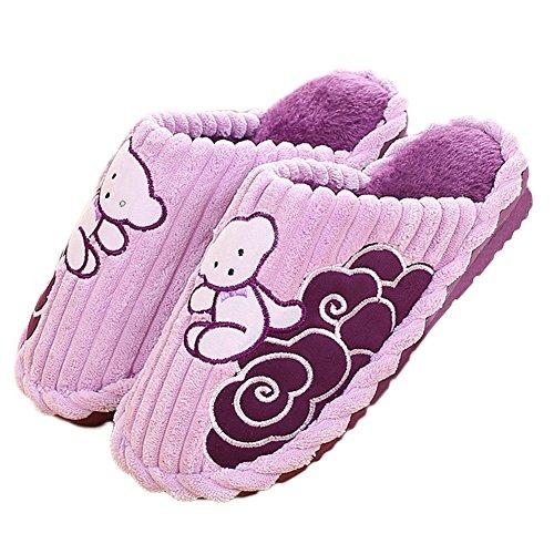 Pantofole Calde Calde Del Fumetto Dellinterno Sveglio Del Fumetto Delle Donne Calde Di Cybling Antiscivolo Porpora