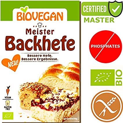 Levure de boulanger Bio Sans Gluten Extra Forte Levure De Maître 7g Biovegan |
