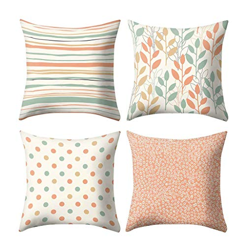 Moliiy Pastel Color Print Pillow Case Polyester Sofa Car Cushion Cover Home Decor 45 X 45cm (A) ()