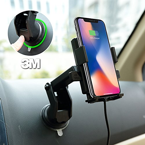 Qi Wireless Fast Charging Phone Charger Car Mount