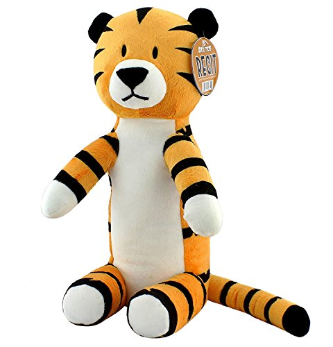 Attatoy Regit The Plush Tiger Toy, 17-Inch Tall Striped Sitting Tiger Stuffed Animal]()