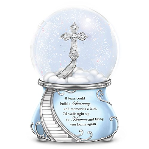 Musical Glitter Globe with a Swarovski Crystal and - In Loving Memory Music Box