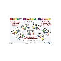 Banda de percusión con código de colores, tarjetas de campanilla /7 acordes