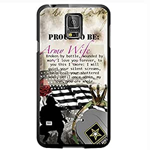 Proud to Be Army Wife Hard Snap on Case (Galaxy s5 V)