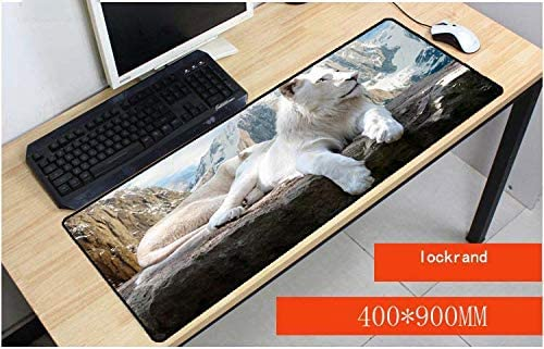 Erjiasan Blanco León y Tigre Comodidad grande Mousepad Tapete de mesa Juego Tamaño de Mousepad Para 40X90 CM Velocidad Versión Juego Alfombrillas de ratón,300X800X2MM,estilo 1: Amazon.es: Oficina y papelería
