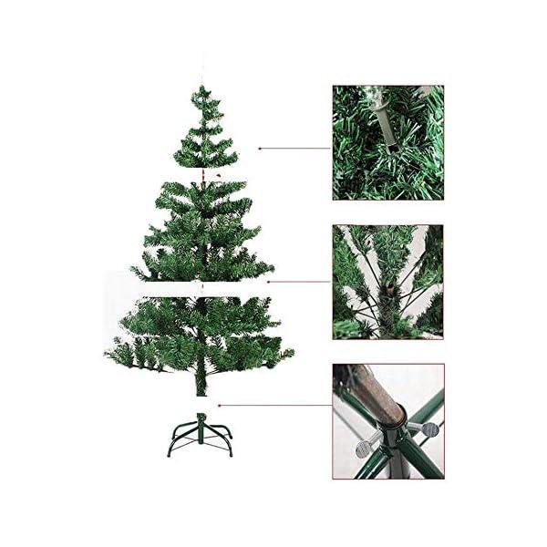 Mctech, albero di Natale artificiale, colore: verde, PVC, 180 cm 7 spesavip