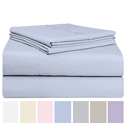 Extra Elasticity /& Breathability Quick Dry Soft /& Wrinkle Free Queen, Pink Luxurious Cotton Rich 600 Thread Count Bed Sheet Sets Fade /& Stain Resistant