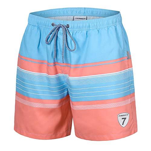 anqier Mens Swim Trunks Quick Dry Swim Shorts with Mesh Lining Swimwear Bathing ()
