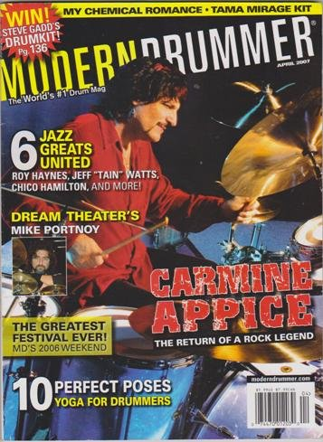 Modern Drummer Magazine (April 2007) (Carmine Appice - The Return Of A Rock Legend) (Appice Drummer Carmine)