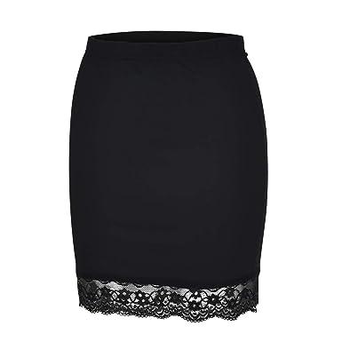 Falda de Ropa Interior para Mujer Leggings Casual Encaje Faldas ...