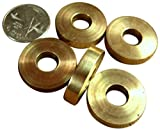 JWL (5) Solid Brass Cane Brake Washers 1 '' Diameter used between Cane handle and Shaft