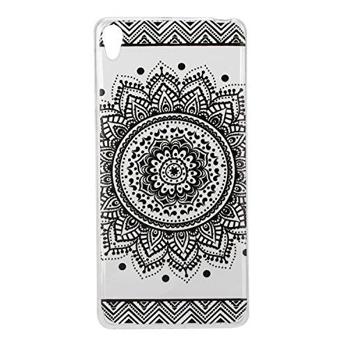 Qiaogle Teléfono Caso - Funda de TPU silicona Carcasa Case Cover para Huawei Y5II / Y5 2 (Two) 2016 (5.0 Pulgadas) - HX22 / Azul atrapasueños HX23 / Negro cordón flor