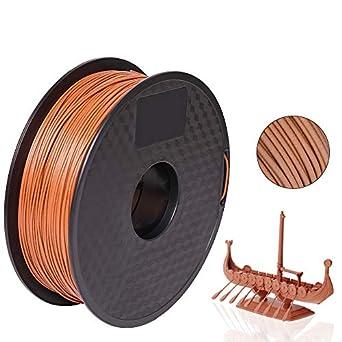 pxmalion madera 3d filamento, 1,75 mm, marrón oscuro, peso neto 1 ...