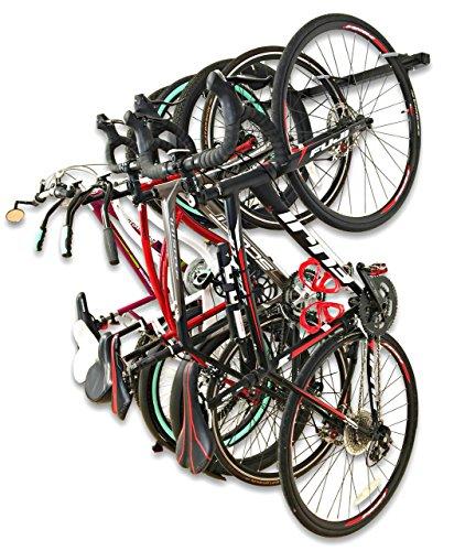 Omni Bike Storage Rack - Holds 5 Bicycles - Home & Garage Adjustable Bikes Wall Hanger Mount by StoreYourBoard