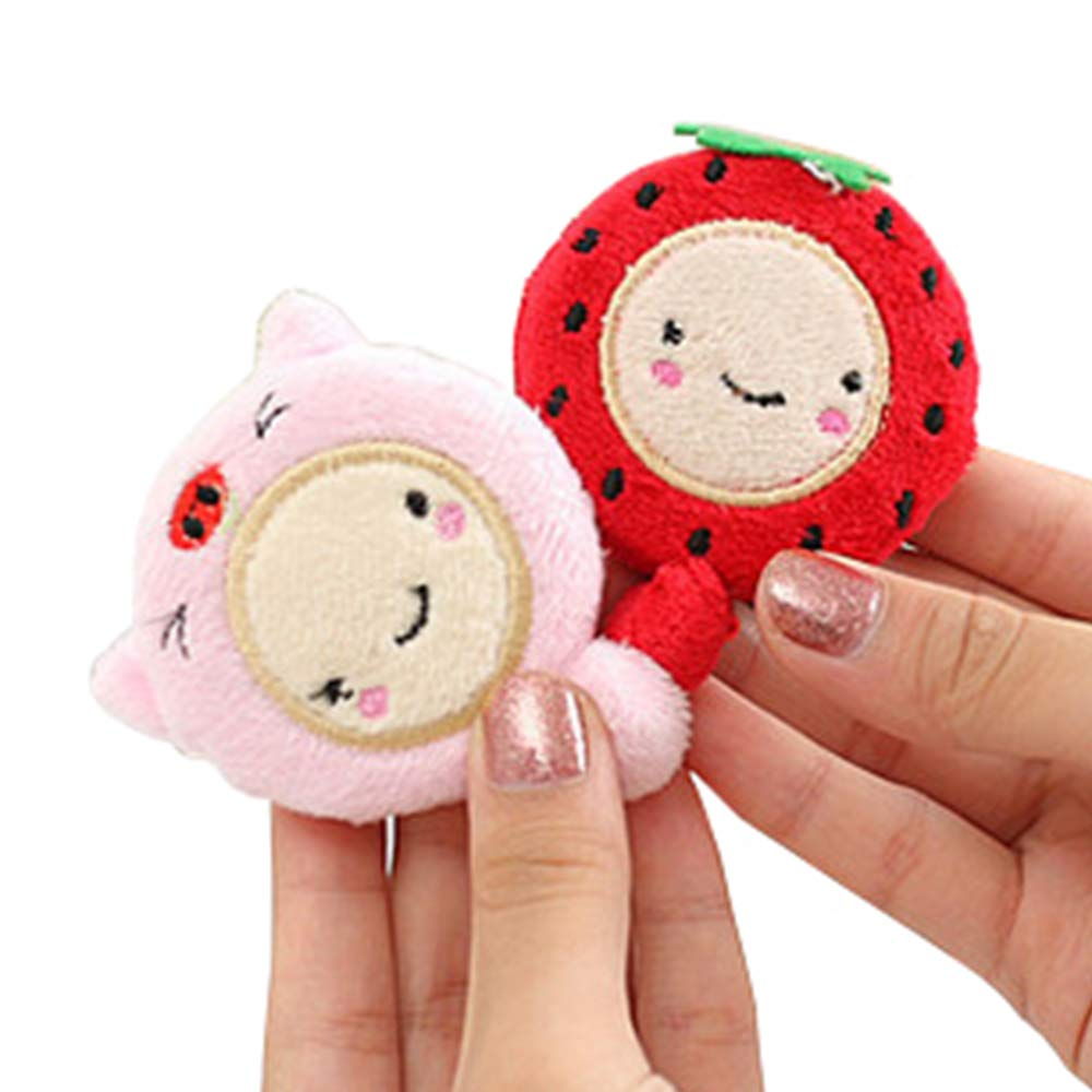 Domccy 1.5M Cartoon Animal Plush DIY Craft Retractable Measuring Tape Sewing Tool 1pc Household items, all kinds of small items