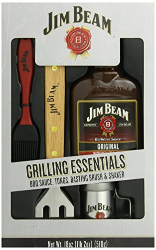 Whiskey Grilling Sauce - Jim Beam: Grilling Essentials - Sauce, Tongs, Basting Brush & Shaker