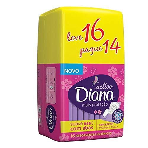 Absorvente Active Suave com Abas LV 16 PG 14 30 x 16 cm, Diana