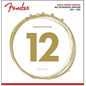 Fender Duratone 80/20 Bronze Acoustic Guitar Strings 12-52