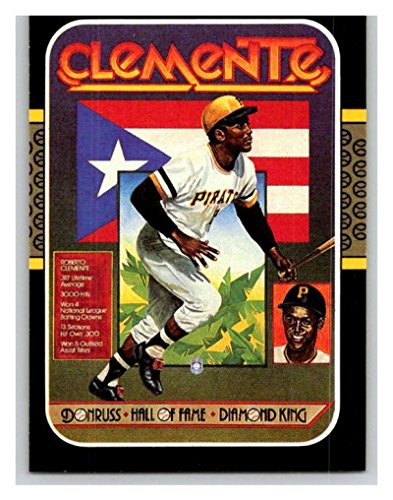 (HCW) 1987 Donruss #612 Roberto Clemente Pirates Puzzle MLB Mint Baseball