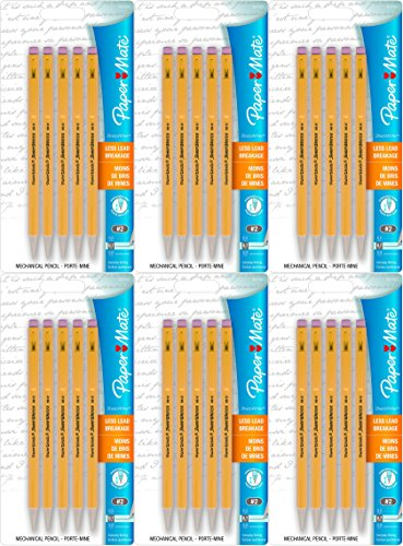 Papermate 3037631PP SharpWriter Mechanical Pencils, Twistable Tip, 0.7 Mm, 6 Blisters of 5 Pencils, Total 30 Pencils (Mechanical Sharpwriter Pencil)