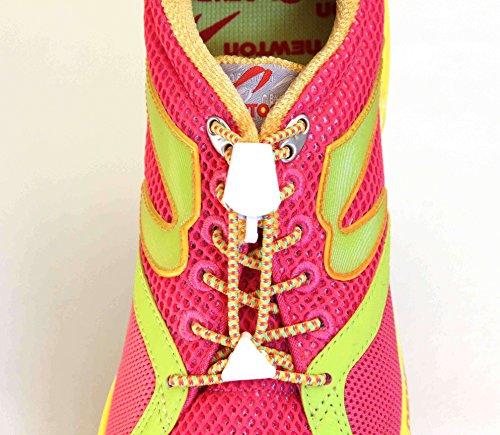Yankz Sure Lace Round Elastic Shoe Laces, Multi Color with W