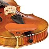 SAS Pearwood Chinrest for 3/4-4/4 Violin or Viola with 28mm Plate Height and Goldplated Bracket
