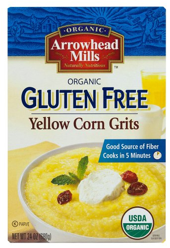 Arrowhead Mills Organic Yellow Corn Grits, 24-ounce Boxes (Pack of 3)