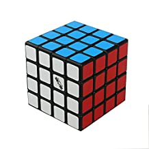 Qihang Magic cube speed 4x4 puzzle stickerless,6x6x6cm Black
