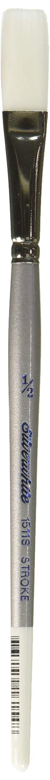 Silver Brush 1511S-012 Silverwhite Short Handle White Taklon Brush, Stroke, 1/2-Inch by Silver Brush Limited