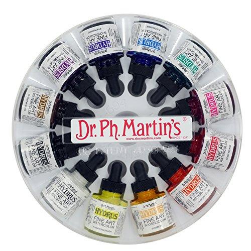 Dr. Ph. Martin's Hydrus Fine Art Watercolor, 1.0 oz, Set of 12 (Set 1)