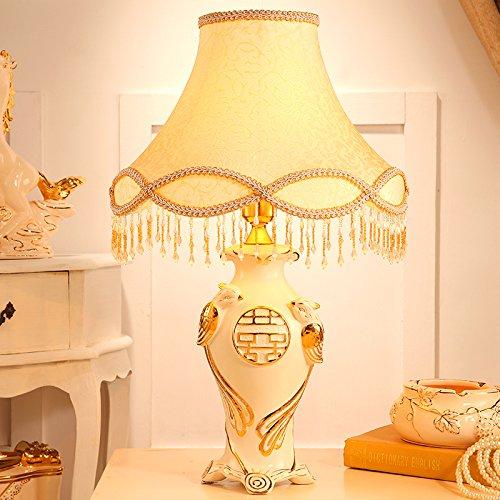 YFF@ILU europäische Hochzeit luxuriöse Schlafzimmer Nachttischlampe Keramik kreative Wohnzimmer Lampe Lampe im chinesischen Stil