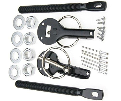 Alloy Car Mount Bonnet Hood Latch Catch Pin Key Locking Kit