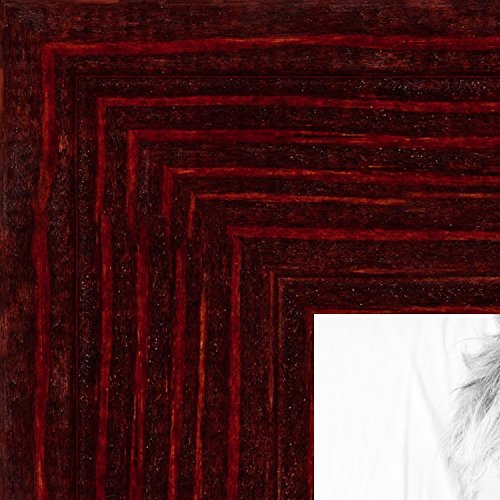 ArtToFrames 8x10 inch Two-Toned Red Cherry Stain On Oak Wood