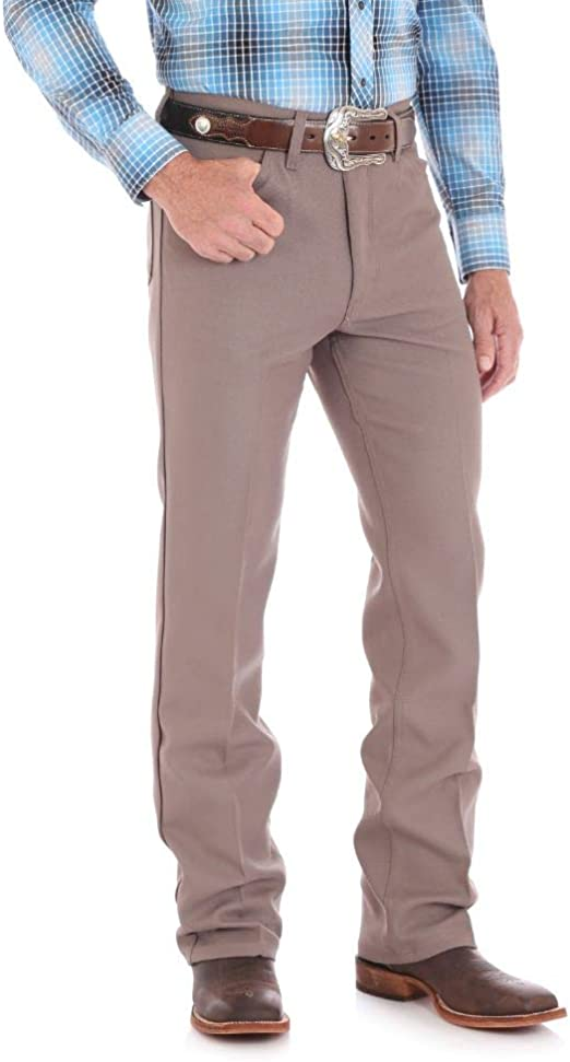 Wrangler USA Mens Brown Wrancher Polyester Pants Dress Jeans 82BN 40x36