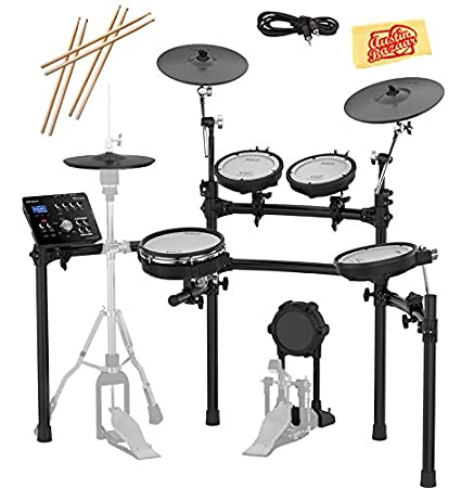 Roland TD-25K-S Electronic Drum Set Bundle with 3 Pairs of Sticks, Audio  Cable, and Austin Bazaar Polishing Cloth