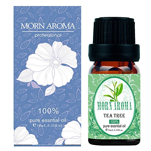 100% Undiluted Pure Tea Tree Essential Oil-10ml Organic and Natural Premium Melaleuca Therapeutic Grade,Treatment for Acne Tighten Skin (Botanical Natural Purely Solution)