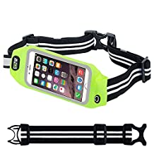 EOTW Running Belt iPhone 6/6S,Cell Phone Outdoor Sport Waist Pack Fanny Pack Sweatproof Touch Screen for iPhone 5,5S,SE,Huawei P6,Samsung Galaxy S5 Mini,HTC One M9,Moto Z,G,X Running jogging Walking Hiking - 4.7 inch Green