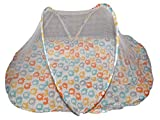 Baby Bucket Mosquito Net With Bed and Baby Pillow (Off White Elephant)