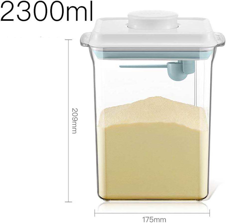 1.7L Bocaux scell/és avec couvercles Milk Powder Dispensers R/éservoir Contenant De Poudre De Lait Les Collations Et Les C/ér/éales Conteneur Alimentaire Scell/é Portable Pour Le lait En Poudre