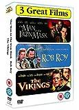 The Man In The Iron Mask/Rob Roy/The Vikings - Leonardo Decaprio / Liam Neeson / Kirk Douglas DVD