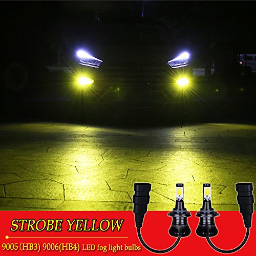 9005 9006 LED Fog Light Bulb HB4 Fog Bulbs HB3 LED Fog Bulbs Yellow 3000K Strobe Flashing Lamps Car Trucks 12V 30W Accessories Replacement Modification Bright New 2pcs?1797?