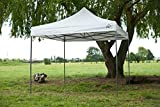 All Seasons Gazebos, 3x3m White , Heavy Duty, Fully Waterproof, PVC Coated, Premium Pop Up Gazebo + Carry Bag With Wheels & 4 x Superior Leg Weight bags
